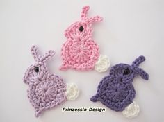 Crochet rabbits, more Easter crochet on my Easter board