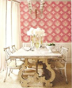 Ah, if only I could get away with a pink dining room!
