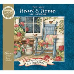 "Susan Winget Heart & Home Commemorative Wall Calendar: Susan Winget's Heart & Home showcases classic American symbols that will warm the heart and enhance the home. This 25th Edition Commemorative calendar comes with a bonus 9"" x 12"" Susan Winget print!  $15.99  http://www.calendars.com/Country-Folk-Art/Susan-Winget-Heart-and-Home-Commemorative-2013-Wall-Calendar/prod201300005270/?categoryId=cat00032=cat00032#"