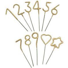 Mini Gold Sparkler Wands. Best birthday candles ever.