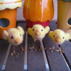 Cheep chick needle felted bird by TCMfeltDesigns on Etsy,