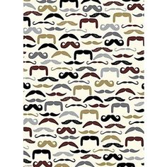 Moustaches Wrapping Paper...would make a fun backdrop, garland, bottle wraps, decor for a Little Man party  {Paper Source}