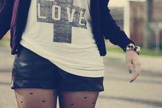 heart tights and shorts