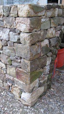 dry stone corner