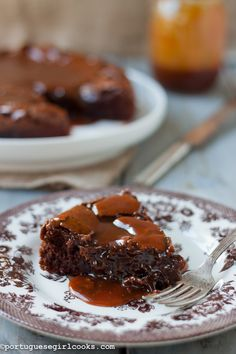 Chocolate fudge cake with salted caramel