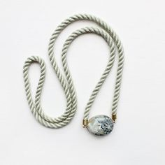 Green Rope and Marble Necklace