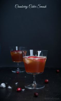 Cranberry cider smash
