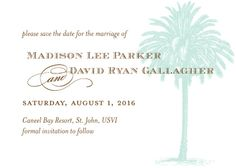 Save the Date Card - Vintage Palm Tree