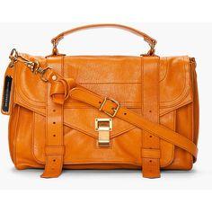 PROENZA SCHOULER Saffron Leather Foldover Ps1 Messenger Bag ($1,695) found on Polyvore