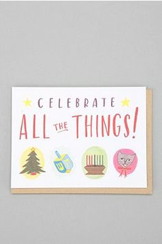 Celebrate All Holiday Card