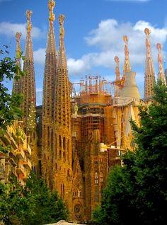 Amazing church - Sagrada Familia, Barcelona, Spain