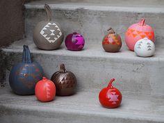 DIY geometric pumpkins by happymundane.com