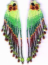 Mexican Hat Earrings Pattern by Charlotte Holley - Beaded Legends by Chalaedra at Bead-Patterns.com