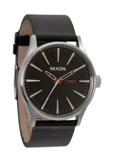 I want this for my grey suit style, men accessories, nixon watch, men fashion, sentri leather, leather blackr, nixon sentri, leather watchband, men watches