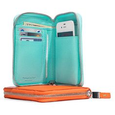 Gifts for World Travelers—If you prefer your cell phone case on the luxurious side, consider this wallet by Tiffany: It also features compartments for money and credit cards—and comes in that signature robin's-egg blue.