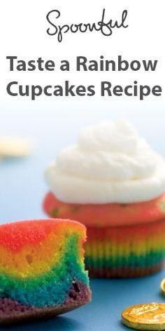 Taste a Rainbow Cupcakes Recipe