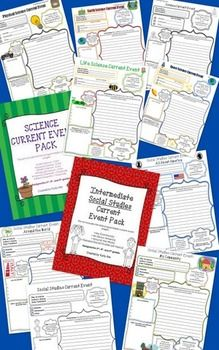 $ {Follow me on TpT to know when I offer new products FREE for a limited time!} Here are ALL of my science and social studies current event forms! Great for Weekly Readers or other types of articles. Your students are sure to find out more about the world around them!