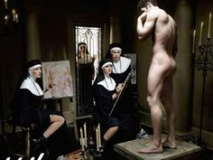 The Painting Nuns  Two nuns are ordered to paint a room in the convent, and the last instruction of the Mother Superior is that they must not get even a drop of paint on their habits. After conferring about this for a while, the two nuns decide to lock the door, strip ...
