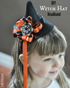 Witches are a staple of Halloween costumes. For just a few bucks & 5 minutes, you can whip up this adorable DIY witch hat headband to add to your ensemble!