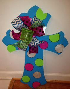 Hand Painted Wooden Crosses by AvasJewels on Etsy, $35.00