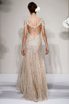Love the back detail on this Pnina Tornai wedding dress.
