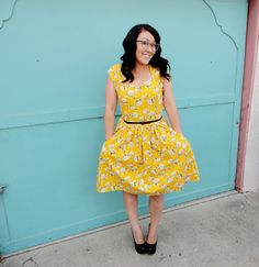 Miss Crayola Creepy: My yellow Cambie dress for the Sew Weekly
