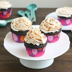 Dark Chocolate Salted Caramel Cupcakes by Tracey