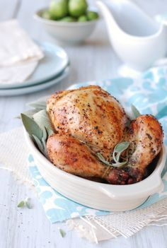 Sage White Wine Roasted Game Hens