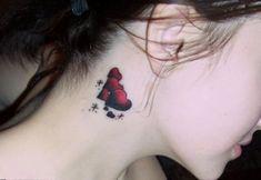 love hearts neck tattoo for women #neck #tattoo #women #female