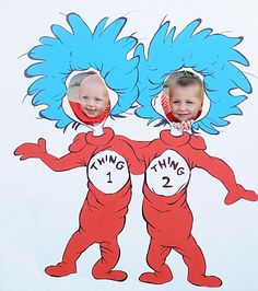 Dr. Seuss: Thing 1 & Thing 2 Photo Cut Out/ Party game
