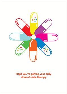 Happy Pills Card - muchas más ideas para tu #farmacia en http://pinterest.com/farmagestion/escaparates-y-paqueter%C3%ADa-farmacia/