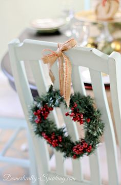 holiday ideas, dollar tree, chair wreath, easi holiday, tree wreath, mini wreath