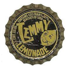 vintage lemonade bottle cap.