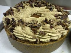 Maple praline pecan Pumpkin cheesecake