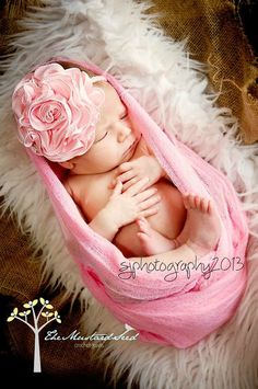Newborn wrap with matching head band/ Cheese Cloth on Etsy, $12.00