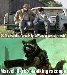 DC and Marvel movie logic.
