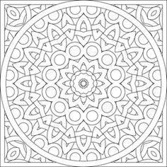 mandala color page