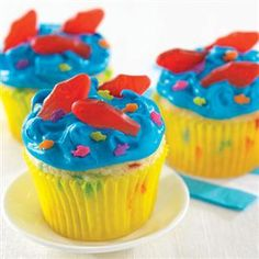 Aqua Blue Seaside Cupcakes