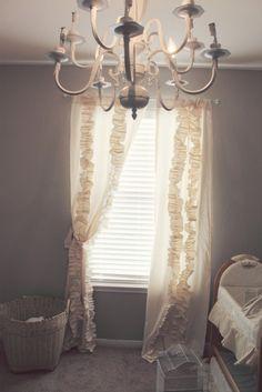 Anthropologie DIY Curtains {sneak peek baby girl's nursery}