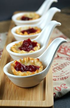 Cranberry, Orange & Ginger Chutney Brie Cups