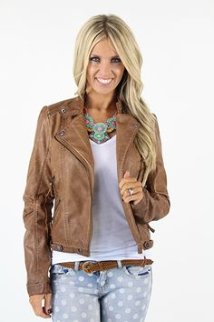 Lime Lush Boutique - Brown Leather Jacket, $86.99 (http://www.limelush.com/brown-leather-jacket/)