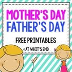 Mother's Day and Father's Day are quickly approaching!  Get your kiddos writing about their favorite times with Mom and Dad using my FREE Printable...