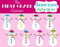 New clip art store on Etsy! Love these little snowmen!