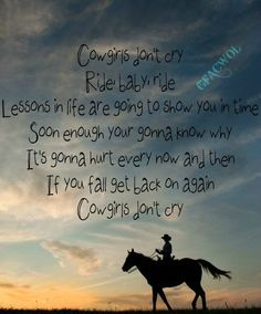 Cowgirls Don't Cry ~ Brooks & Dunn