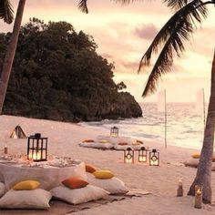 dinner on the beach...