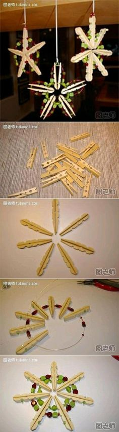 DIY Clothespin Home Ornament
