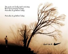 Love the Robert Frost reference. So applicable to running.