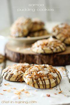 Samoa  Pudding Cookies.