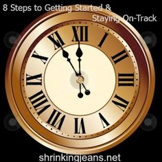 clock 8 steps to getting started on a diet and staying on track