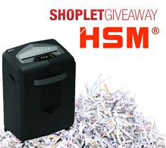 This week we are giving away a super awesome HSM shredder! Here's how to win: Follow Shoplet on Pinterest, repin this post, go to the Shoplet Blog each day & tell us why you want this amazing #giveaway! Winners will be announced October 7th